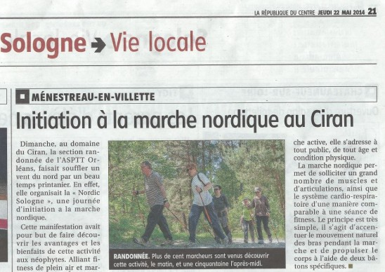 article République du Centre 22 mai 2014